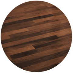 Wood parquet floor feature in Stage 2