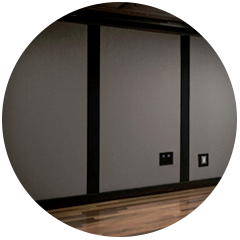 Sliding wall panels feature in Stage 2